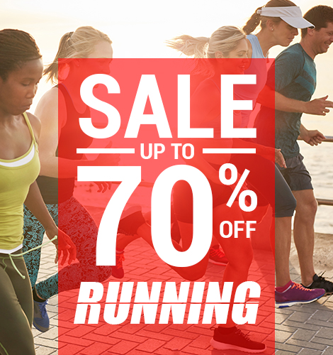 Running Sale up to 70% off
