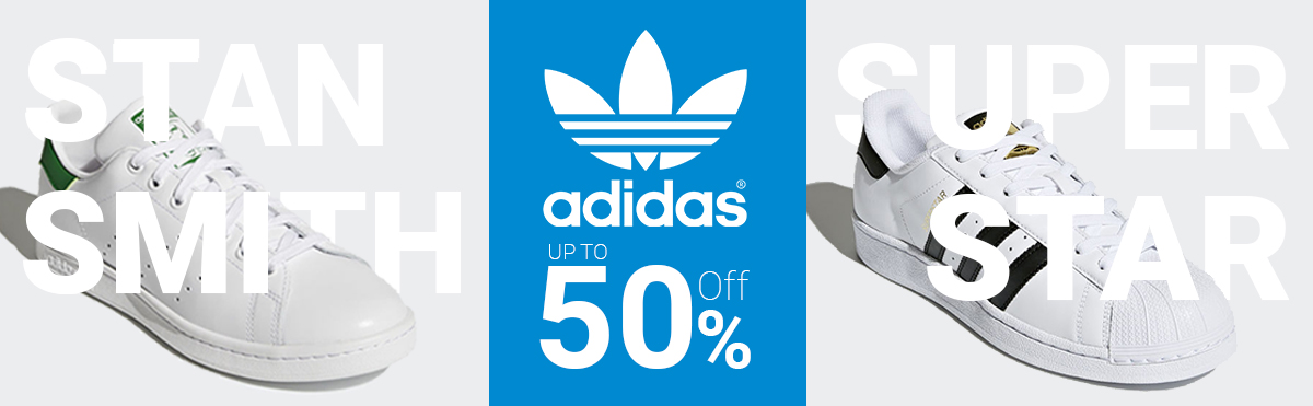 Adidas Originals Stan Smith and Super Star up to 60% off